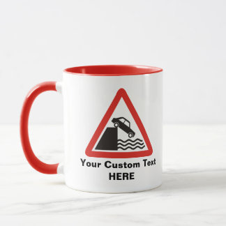 Quayside Warning Sign Mug