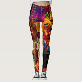QUE ESSENCE EXPRESSIONS ABSTRACT LEGGING 11