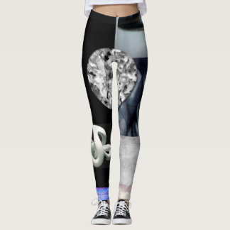 QUE ESSENCE EXPRESSIONS ABSTRACT LEGGINGS