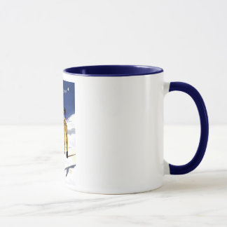 Que la neige soit/Skieur grande tasse Mug
