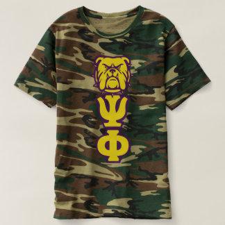 Que Psi Phi Camouflage T-Shirt