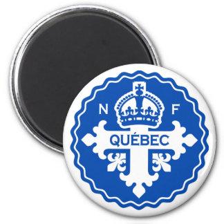 Québec 6 Cm Round Magnet