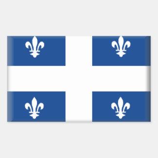 Quebec (Canada) Flag Rectangular Sticker