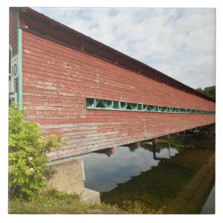 Quebec, Canada. Galipeault covered bridge in Large Square Tile