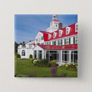Quebec, Canada. Historic Hotel Tadoussac, 2 15 Cm Square Badge