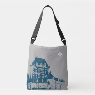 Quebec Chateau Frontenac & citation Peuple Lévesqu Crossbody Bag