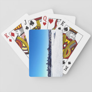 Quebec City and St. Lawrence River On Winter Playing Cards