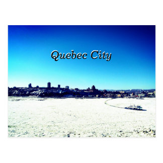 Quebec City and St. Lawrence River On Winter Postcard
