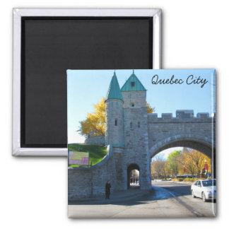 Quebec City Canada Castle Gates Square Magnet