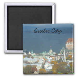 Quebec City Canada Waterfront Square Magnet