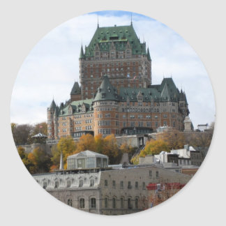 Quebec City Classic Round Sticker