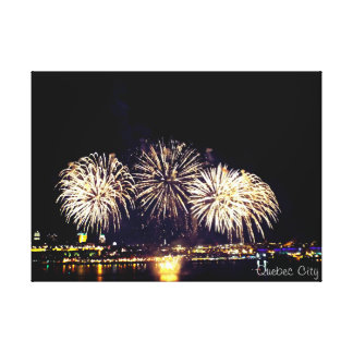 Quebec City Fireworks Canvas Print