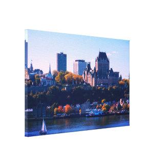 Quebec City in Autumn Canvas Print