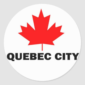 Quebec City Round Sticker