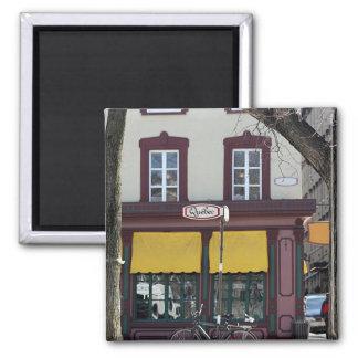 Quebec city scene square magnet