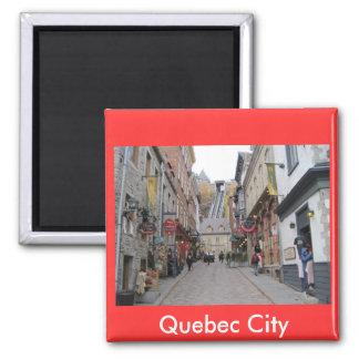 Quebec City Street Square Magnet