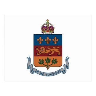 Quebec Coat of Arms (alternative) Postcard