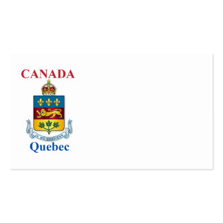 Quebec coat of arms pack of standard business cards