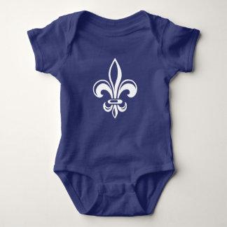 Quebec Fleur of lily quotation populates René Baby Bodysuit