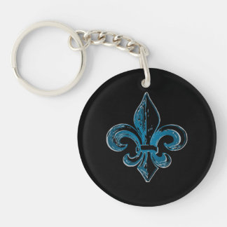 Quebec flower elegant lily Champlain - YOUR COLORS Key Ring