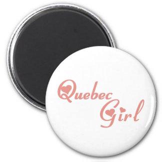 Quebec Girl 6 Cm Round Magnet