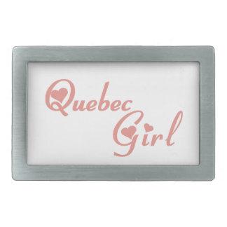 Quebec Girl Belt Buckles