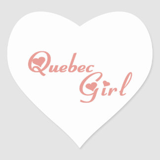 Quebec Girl Heart Sticker