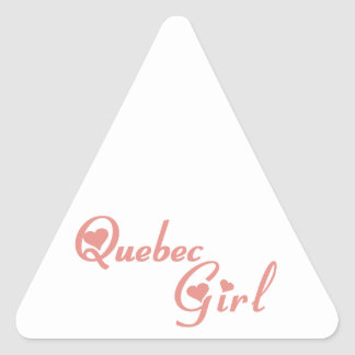 Quebec Girl Triangle Sticker