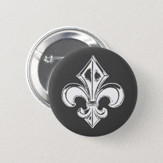 Québec  goth fleur de lys français VOS COULEURS 6 Cm Round Badge