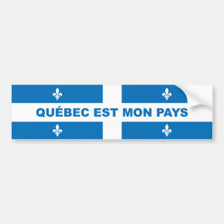QUEBEC IS MY COUNTRY BUMPER STICKER