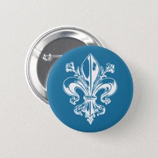 Québec médieval fleur de lys français VOS COULEURS 6 Cm Round Badge