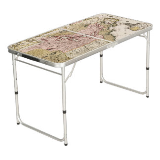 Quebec/Nouvelle-France medieval french map America Beer Pong Table