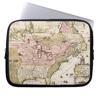 Quebec/Nouvelle-France medieval french map America Laptop Sleeve