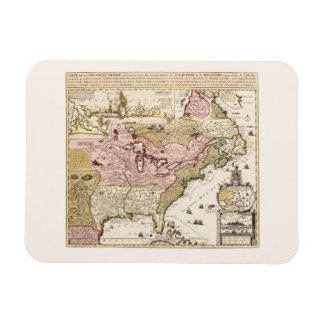 Quebec/Nouvelle-France medieval french map America Magnet