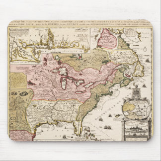 Quebec/Nouvelle-France medieval french map America Mouse Pad