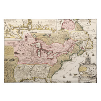 Quebec/Nouvelle-France medieval french map America Placemat