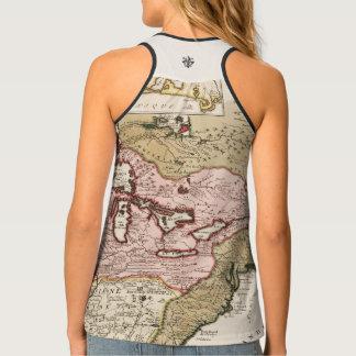 Quebec/Nouvelle-France medieval french map America Singlet