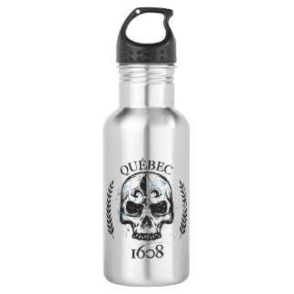 Quebec patriot 1608 grunge metal Referendum YES 532 Ml Water Bottle