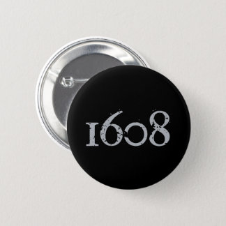 Quebec patriotism 1608 grunge metal YOUR COLORS 6 Cm Round Badge