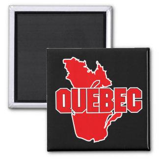 Quebec Province Square Magnet