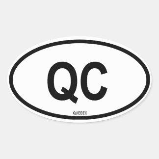 "Quebec ""QC"" Oval Sticker"