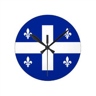 quebec round clock