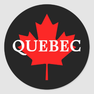 QUEBEC ROUND STICKER