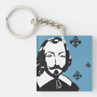 Quebec Samuel de Champlain 1608 French Signature Key Ring