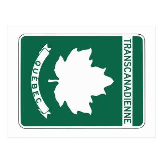 Quebec, Trans-Canada Highway Sign Postcard