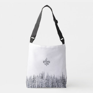 Quebec winter/hivers pines foret, forest beauty crossbody bag