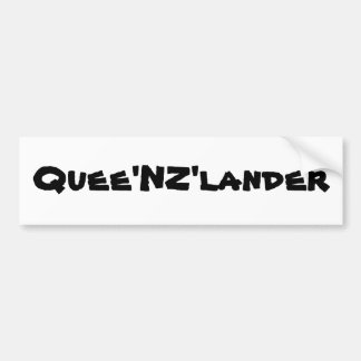 Quee NZ lander Bumper Stickers