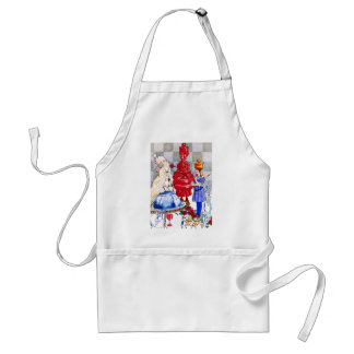 Queen Alice the Red Queen and The White Queen Apron