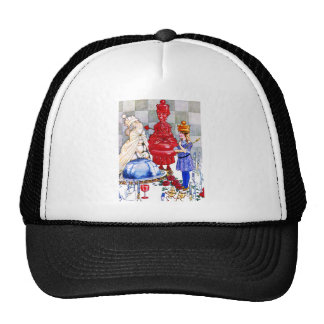 Queen Alice, the Red Queen and The White Queen Mesh Hats