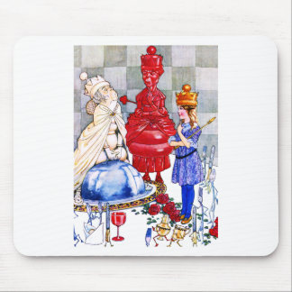 Queen Alice the Red Queen and The White Queen Mousepad